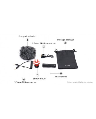 Authentic BOYA BY-MM1 3.5mm Condenser Microphone Kit for Camera / Cell Phone