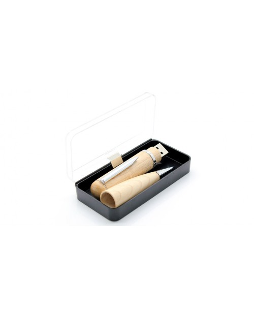 Wooden Ball Pen USB Flash/Jump Drive (32GB)